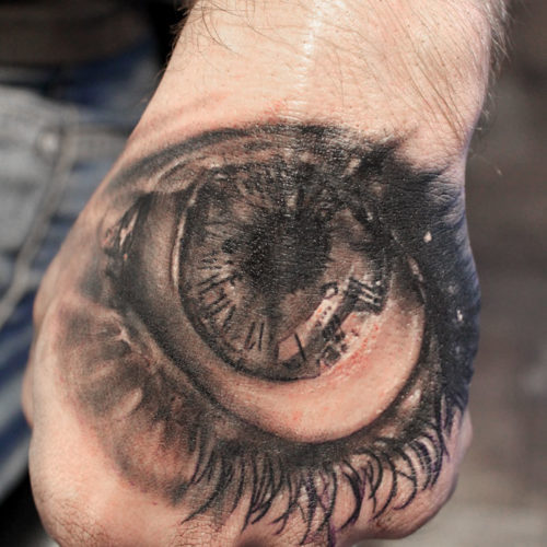 Carper Ink Eye On Hand Tattoo