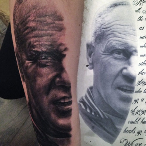 Carper Ink Portrait Liverpool Tattoo