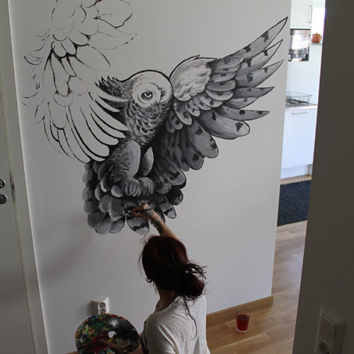 Carper Ink Painting Owl Kvelertak