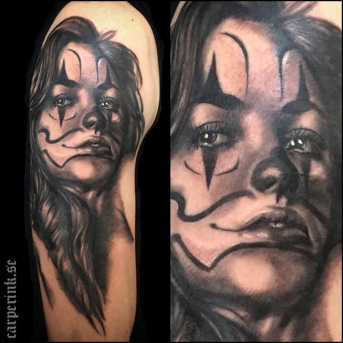 Carper Ink Chicano Girl Black And Grey Tattoo