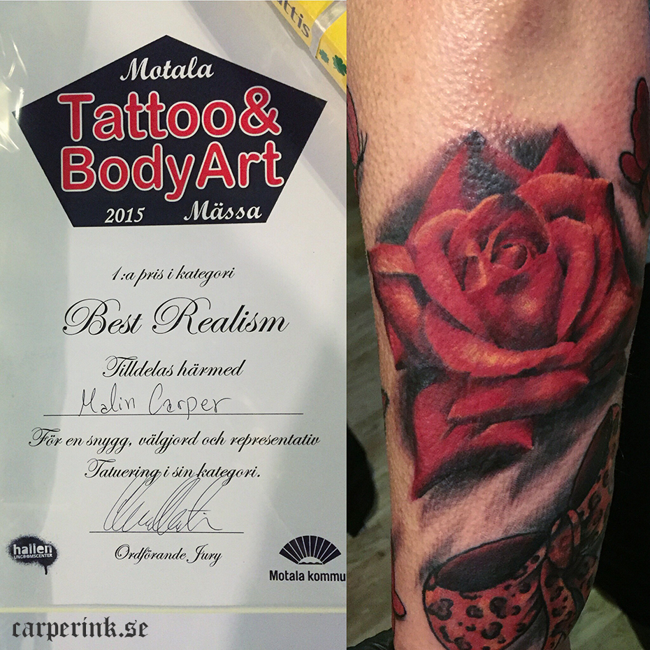 Carper Ink Best Realism Motala Tattoo