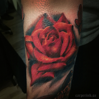 Carper Ink Best Realistic Rose Motala