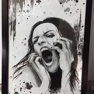Carper Ink Painting Drawing