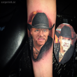 Carper Ink Color Portrait Lasse Stefanz Tattoo
