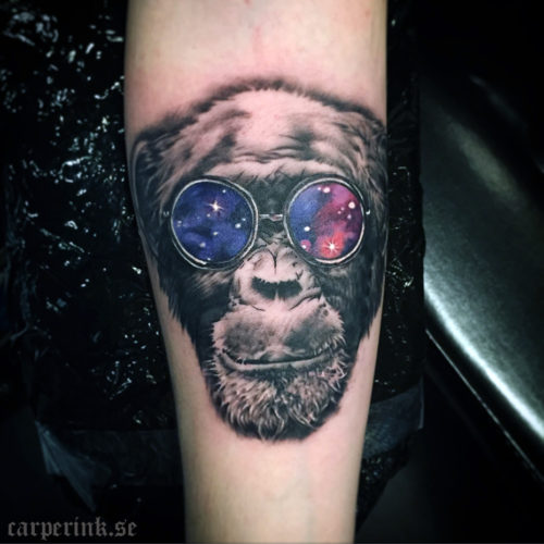 Carper Ink Space Monkey Tattoo